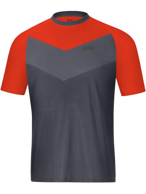 GORE WEAR C5 Trail Short Sleeve Jersey Men terra grey/orange